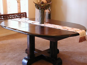 Santa Fe Round Extention Table - sculpted edge