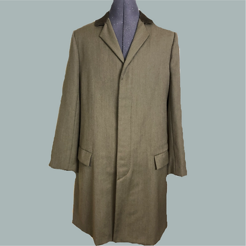 Men's Olive Green Wool coat.