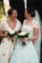 Brides (right) and Bridesmaid
