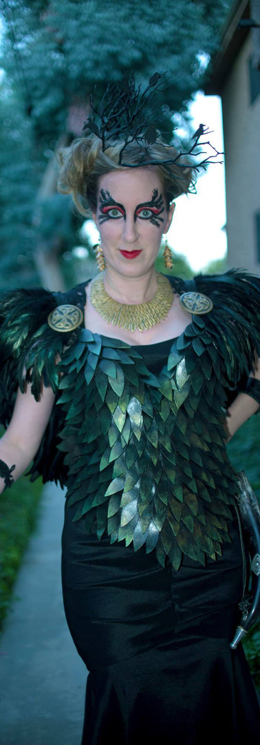 The Morrigan Raven Feather Armor