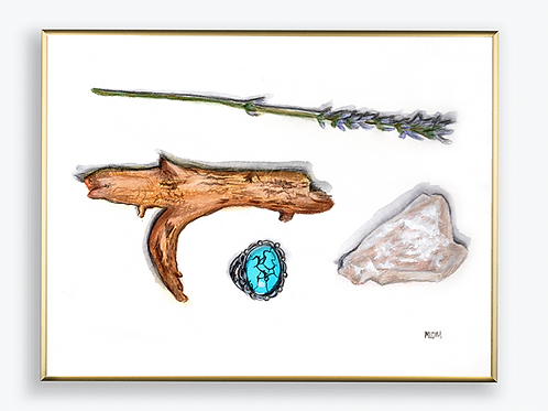 "Art Print - ""Mom's Treasures"""