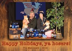 2018 Mahoney Holiday Card Front