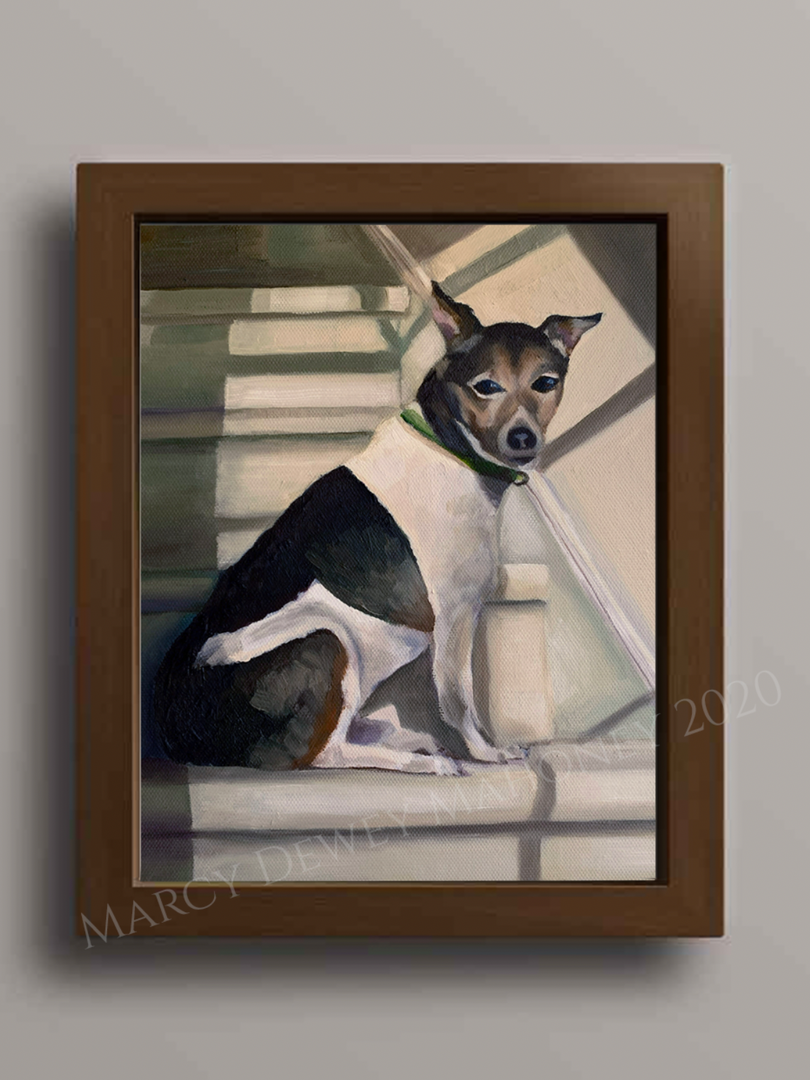 Portrait of Wellington - Oil on Canvas Board