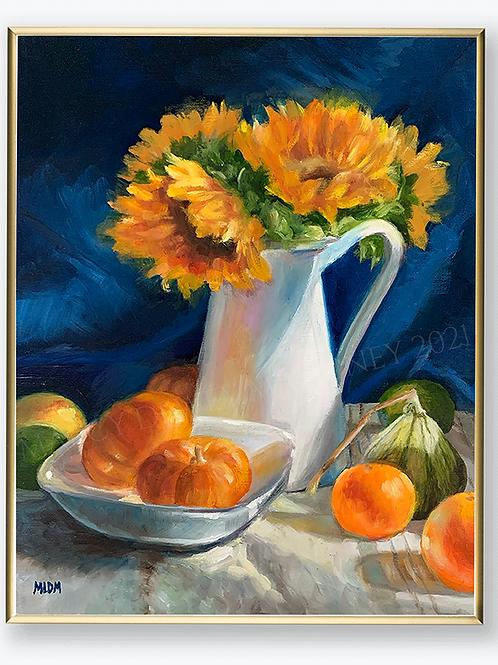 "Art Print - ""Late Summer Sunflowers"""