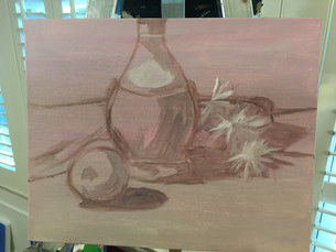 Apple and Chianti Still Life - Oil Painting Process