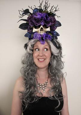 Purple Gothic Skull Wig