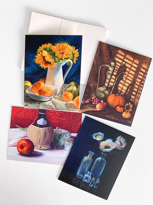Still Life Note Card Set - 4 Pack