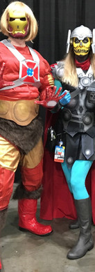 He-Iron Man and SkeleThor!