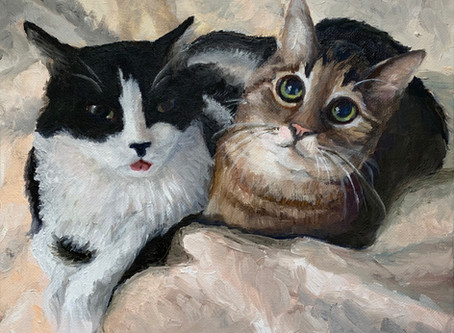 Mojo and Babyshoes - Oil Painting Commission