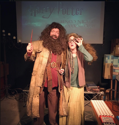 Hagrid and Trelawney