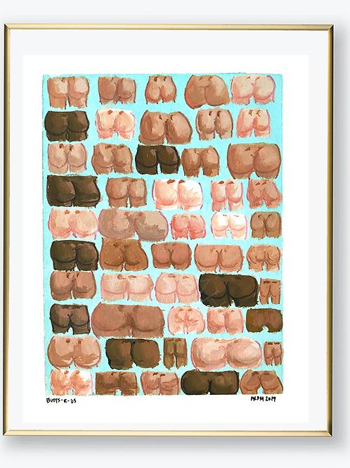 "Art Print - ""Butts R US"""