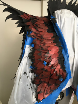 Dragon Scale Jacket - Painting Process
