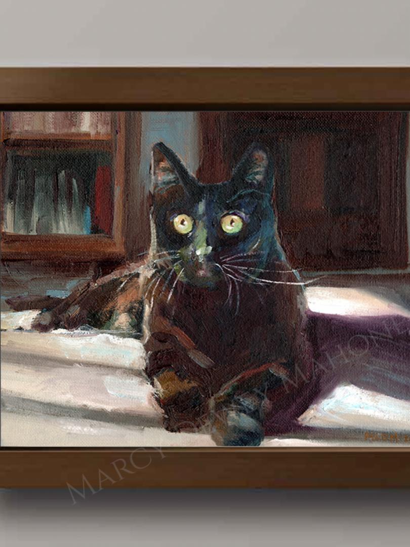 Portrait of SamSam - Oil on Canvas Board