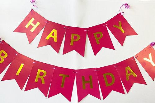 BANDERIN HAPPY BIRTHDAY 7PZ SURTIDO