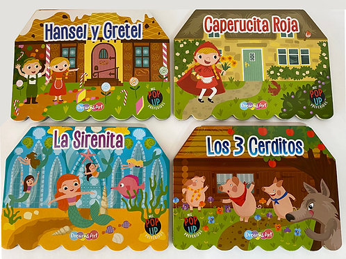 LIBRO CUENTOS POP UP 8 PZ