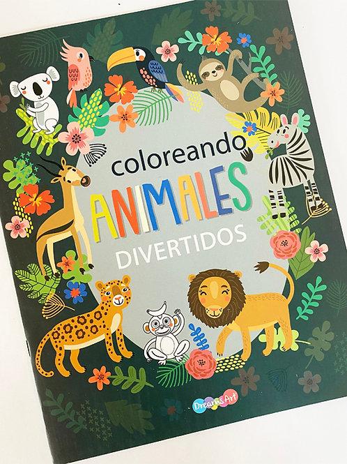 LIBRO PARA COLOREAR ANIMALES 4 PZ