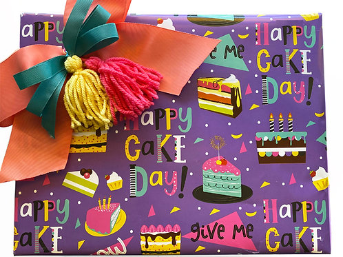 Papel de Regalo CAKE  Pliegos Grandes 100 X70 CM  C/24PZ