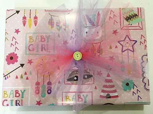 Papel de Regalo BABY GIRL Pliegos Grandes 95cm X 68cm C/12 PZ