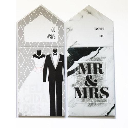 SOBRE P/ BILLETES WEDDING 12 PZ