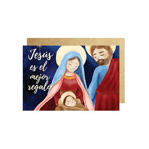3PZ TARJETA JESUS 16cm X 11cm CON SOBRE