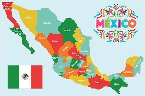 POSTER MEXICO PLASTIFICADO 3PZ