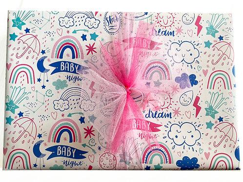 Papel de Regalo BABY DREAMS  Pliegos Grandes 95cmx68cm C/24PZ