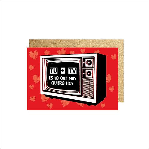 3PZ TARJETA TV 16cm X 11cm CON SOBRE
