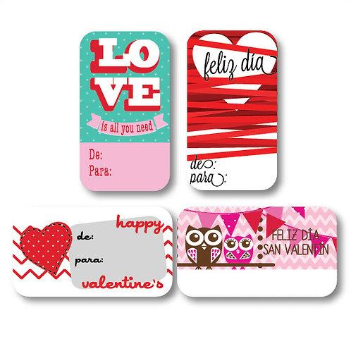 Tarjetas DE-PARA LOVE c/100 pz