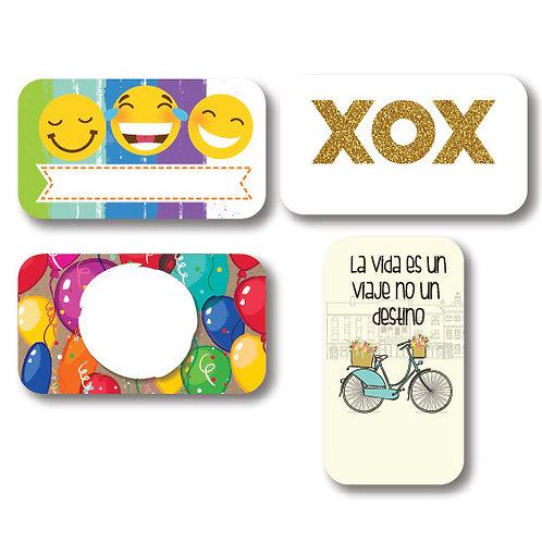 Tarjetas DE-PARA XOX c/100 pza