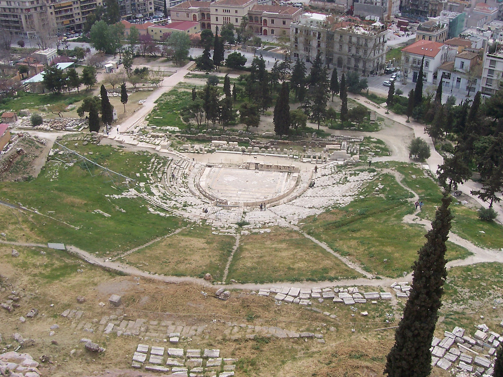 Teatro de Dionísio, Acrópole, Atenas.