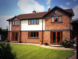 New Build Home with oak windows