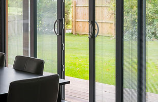 inline patio with sliding doors