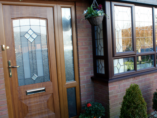 Composite Door and window replacement with leaded glass!
