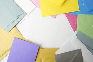 大量の封筒