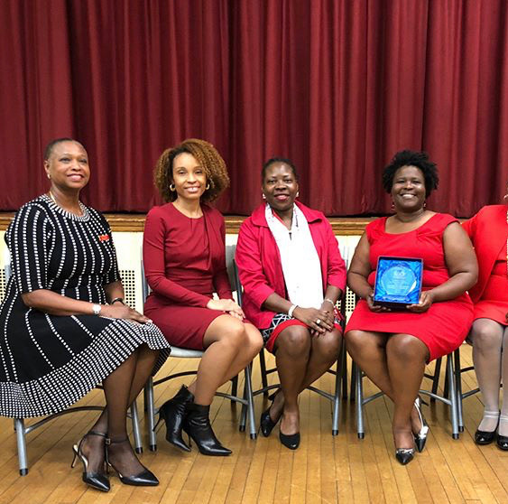 "NYAC was awarded the ""Bernie Callender Sorority Chapter if the Year"" May 2018"