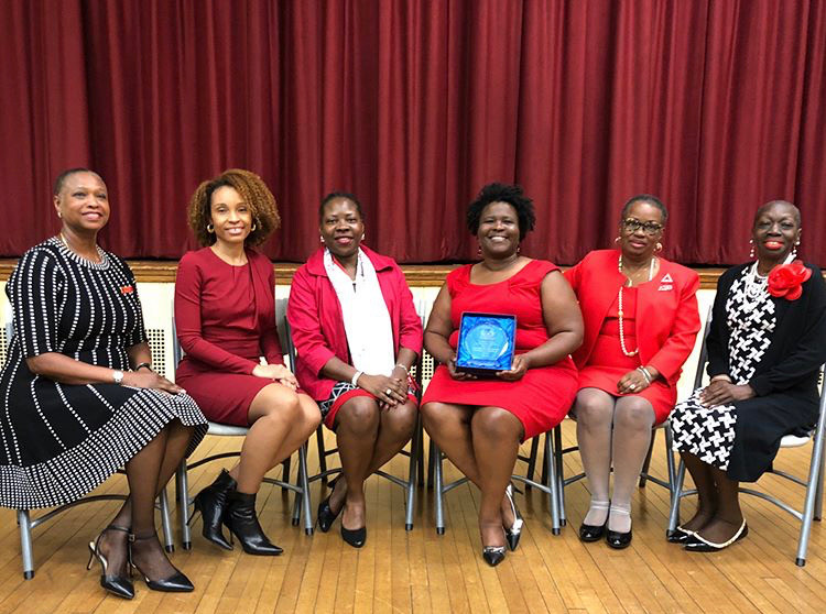 """NYAC was awarded the """"Bernie Callender Sorority Chapter if the Year"""" May 2018"""