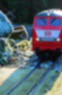 A red diesel loco