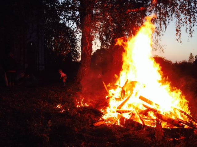 Сжигаем деревянный мусор