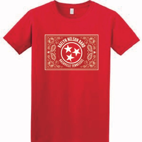Red Raelyn Nelson Band(ana) logo tshirt