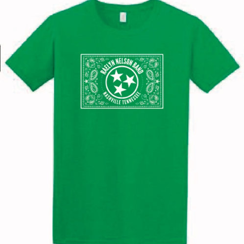 Green Raelyn Nelson Band(ana) logo tshirt