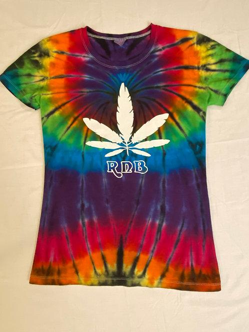 RNB Feather Canna Leaf Tie Dye T-shirt from Hillside Hippiez
