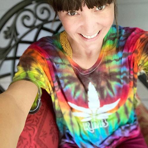 RNB Feather Canna Leaf Tie Dye FLOWY T-shirt from Hillside Hippiez