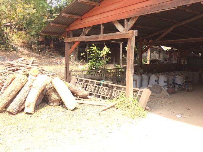 Thinking of Gwen Heeney. 6 Dragon kilns, 30 meter long wood fired. Hand made bricks with one pug mac