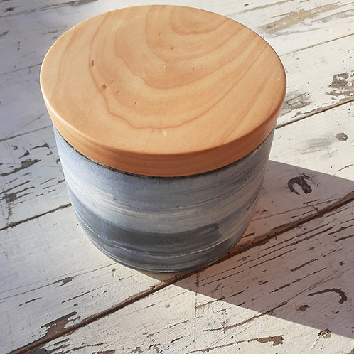 Talvi Portly Wooden Canister