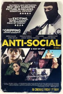 Anti Social Film - Produced & scored soundtrack for Anti Social Film.  Including - recording, mixing & mastering.