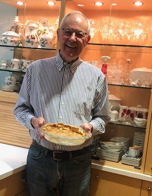 Bryce baking a vinegar pie