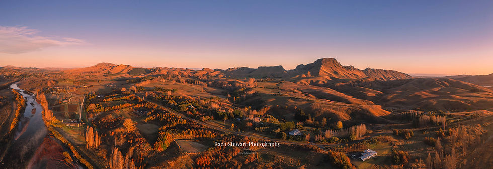 Te Mata Peak sunrise Pano