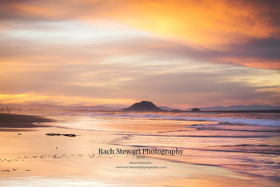 Papamoa Beach sunset Mount Maunganui