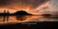 Mount Maunganui beach sunset reflection