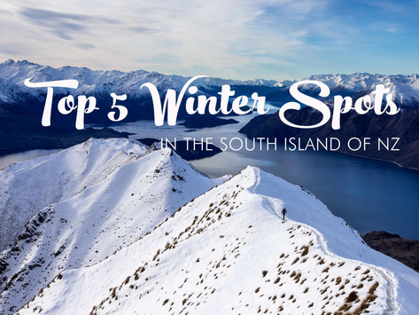 TOP 5 WINTER SPOTS IN THE SOUTH ISLAND NEW ZEALAND